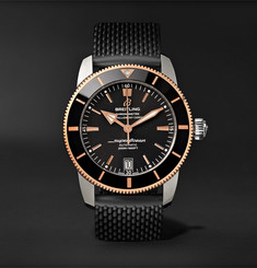 Breitling Superocean Héritage II B20 Automatic 42mm Stainless Steel, Red Gold and Rubber Watch, Ref. No. UB201