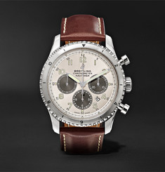 Breitling - Navitimer 8 B01 Chronograph 43mm Stainless Steel and Leather Watch