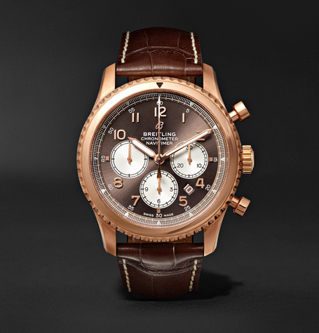 Navitimer 8 B01 Chronograph 43mm Red Gold And Alligator Watch - Brown