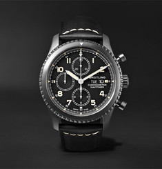Breitling - Navitimer 8 Chronograph 43mm Black Steel and Leather Watch