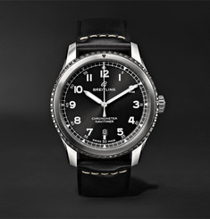 Breitling - Navitimer 8 Automatic 41mm Steel and Leather Watch