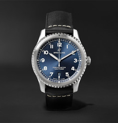 Breitling Navitimer 8 Automatic Chronometer 41mm Steel and Leather Watch