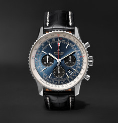 Breitling Navitimer 1 B01 Chronometer 43mm Stainless Steel and Alligator Watch