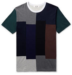 Aloye Patchwork Cotton-Jersey T-Shirt