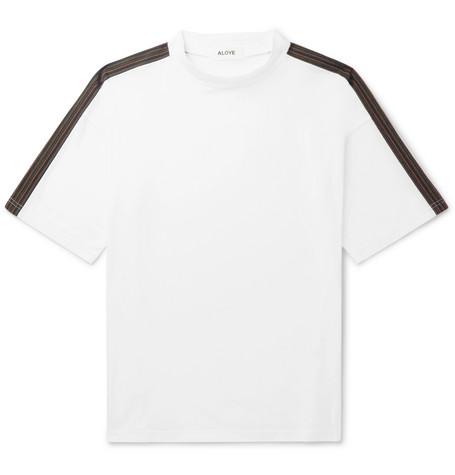 ALOYE Oversized Panelled Cotton-Jersey T-Shirt - White