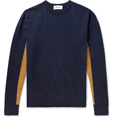 Aloye Colour-Block Cotton-Jersey Sweater