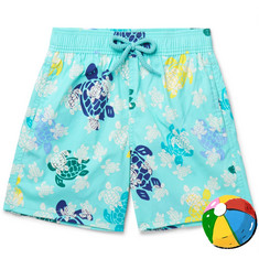 Vilebrequin Boys Ages 10 - 12 Jim Glow-in-the-Dark Printed Swim Shorts