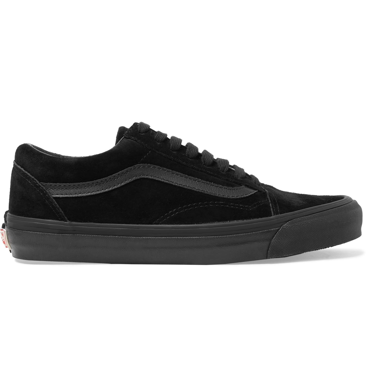 ae24210c6a62ef Vans - OG Old Skool LX Leather-Trimmed Suede Sneakers