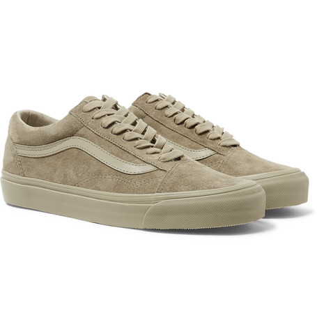 1301cef378 Vans - OG Old Skool LX Leather-Trimmed Suede Sneakers
