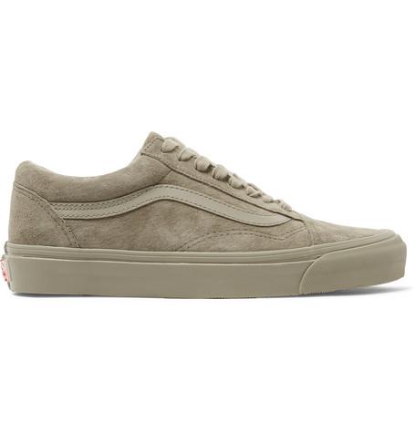 b4ae578ffa2aec Vans - OG Old Skool LX Leather-Trimmed Suede Sneakers