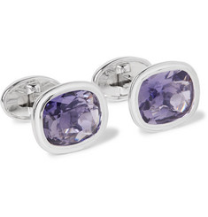 Trianon - Dresden Enamelled 18-Karat White Gold Iolite Cufflinks