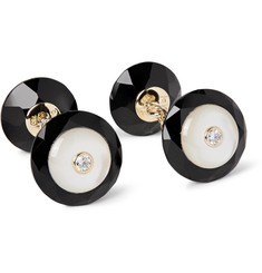 Trianon - 18-Karat Gold, Onyx, Mother-of-Pearl and Diamond Cufflinks