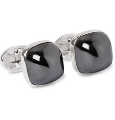 Trianon - 18-Karat White Gold Hematite Cufflinks