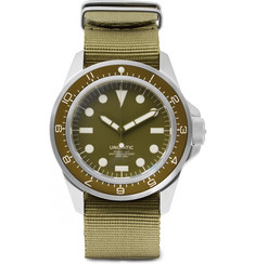 Unimatic - Modello Uno U1-DZ Automatic Brushed Stainless Steel and Webbing Watch