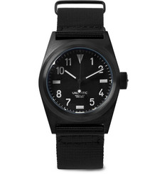 Unimatic - U2-BN DLC-Coated Stainless Steel and Webbing Watch