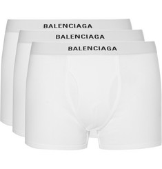 Balenciaga Three-Pack Cotton-Jersey Boxer Briefs