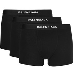 Balenciaga Three-Pack Stretch-Jersey Boxer Briefs