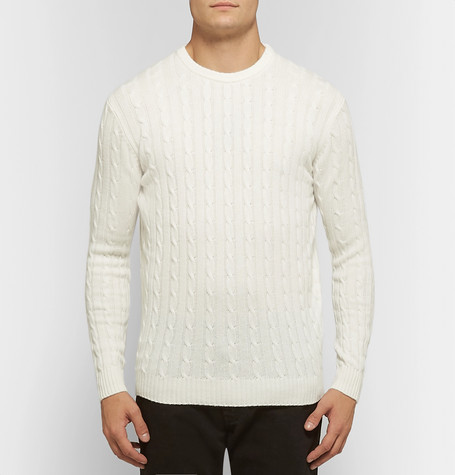 Cable Knit Cashmere Sweater by Thom Sweeney