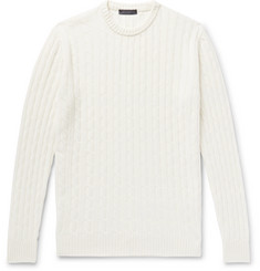Thom Sweeney Cable-Knit Cashmere Sweater