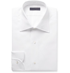 Thom Sweeney - White Slim-Fit Cutaway-Collar Bib-Front Cotton-Poplin Tuxedo Shirt