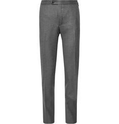 Thom Sweeney Brook Slim-Fit Tapered Mélange Wool Trousers