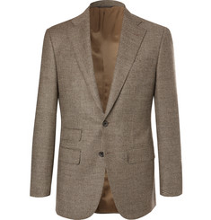 Thom Sweeney Grey Slim-Fit Houndstooth Wool and Cashmere-Blend Suit Jacket