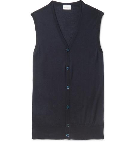KINGSMAN Cashmere Sweater Vest - Navy