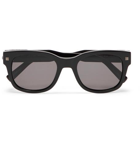 Ermenegildo Zegna Square-frame Acetate Sunglasses - Black yqN83izF