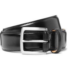 George Cleverley - 3.5cm Black Horween Shell Cordovan Leather Belt