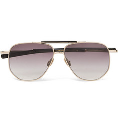 Max Pittion Coleman Aviator-Style Gold-Tone and Acetate Sunglasses