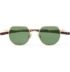 Max Pittion Quimby Round-Frame Gold-Tone Sunglasses