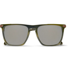 Berluti + Oliver Peoples Rue De Sevres D-Frame Acetate Mirrored Sunglasses