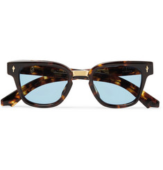 Jacques Marie Mage Jules Square-Frame Tortiouseshell Acetate Sunglasses