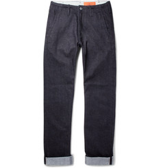 Jean Shop - Leon Slim-Fit Selvedge Stretch-Denim Jeans