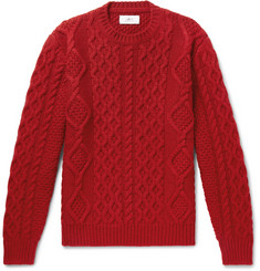 Mr P.-Cable-Knit Merino Wool and Cashmere-Blend Sweater