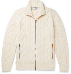 Brunello Cucinelli - Cable-Knit Cashmere Zip-Up Cardigan