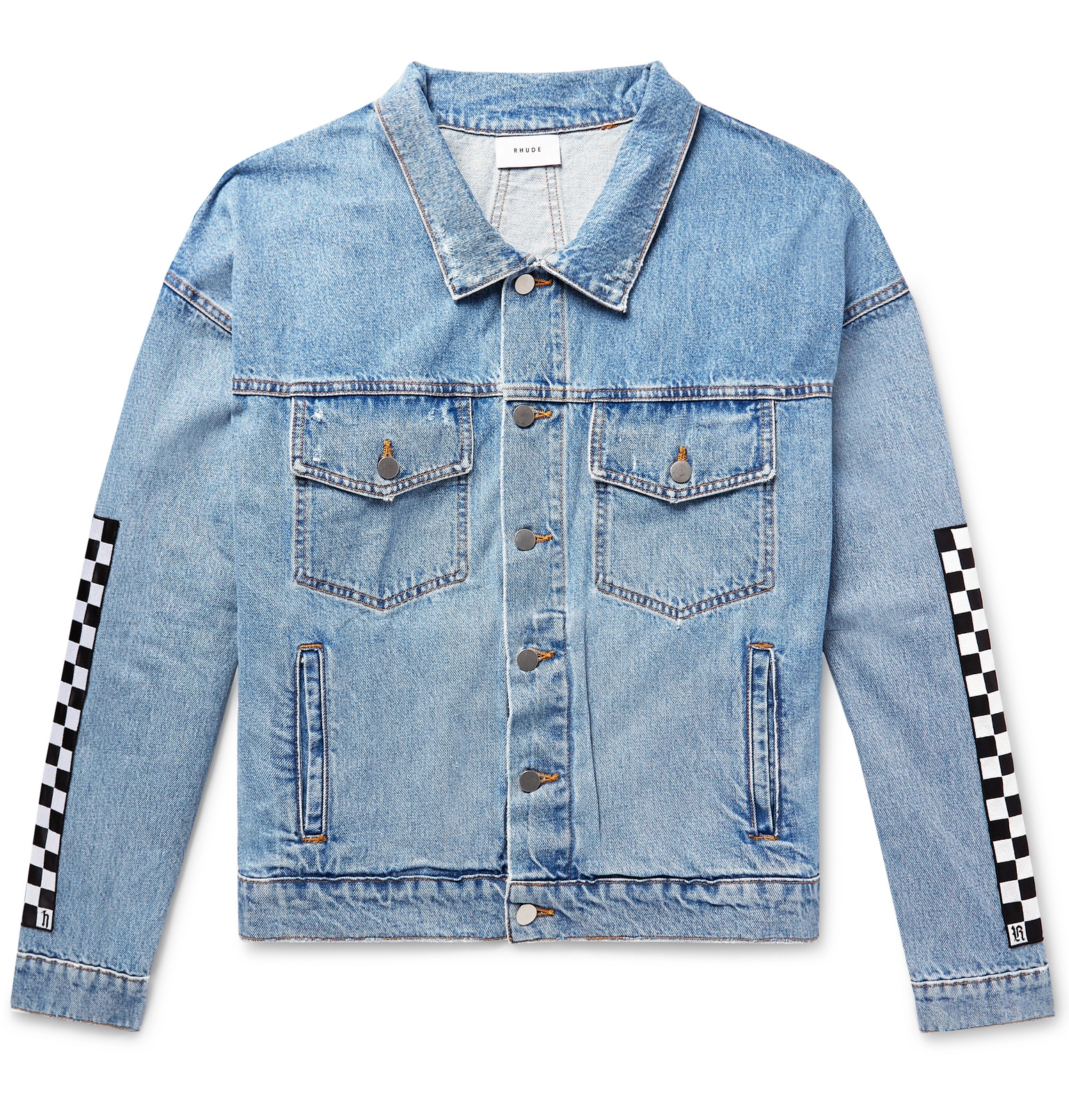 Rhude Jacket Denim Levi's Appliquéd Trucker gZfUO6wg