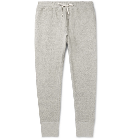 Slim Fit Tapered Mélange Loopback Supima Cotton Jersey Sweatpants by Secondskin