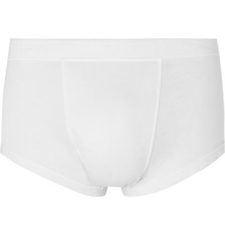 SECONDSKIN Air Knit Silk-Jersey Boxer Briefs in White