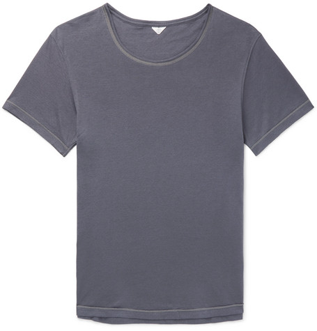 SECONDSKIN Airknit Perforated Cotton T-Shirt in Anthracite