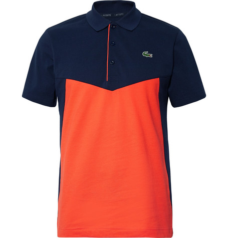 c7c105c015196 Lacoste Tennis - Colour-Block Cotton-Jersey Tennis Polo Shirt