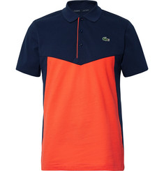 Lacoste Tennis - Colour-Block Cotton-Jersey Tennis Polo Shirt