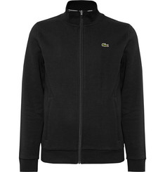 Lacoste Tennis Fleece-Back Cotton-Blend Jersey Zip-Up Tennis Jacket