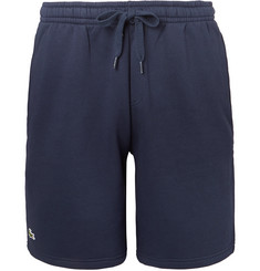 Lacoste Tennis - Tapered Fleece-Back Cotton-Blend Jersey Tennis Shorts