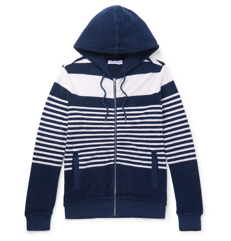 Striped Cotton Terry Zip Up Hoodie by Orlebar Brown