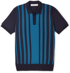 Orlebar Brown Horton Slim-Fit Striped Merino Wool Polo Shirt