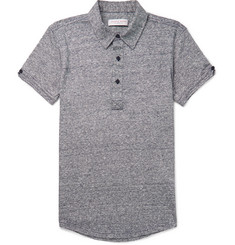 Orlebar Brown Sebastian Slim-Fit Mélange Linen-Jersey Polo Shirt