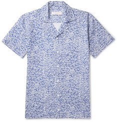 Orlebar Brown Travis Slim-Fit Camp-Collar Printed Cotton and Linen-Blend Shirt