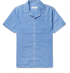 Orlebar Brown Travis Slim-Fit Camp-Collar Cotton and Linen-Blend Shirt
