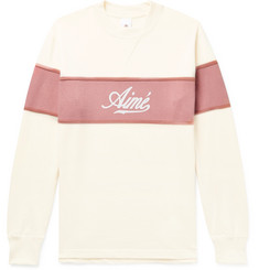 Aimé Leon Dore - Colour-Block Logo-Print Cotton-Jersey Sweatshirt